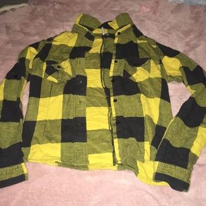 Black &' Yellow Flannel